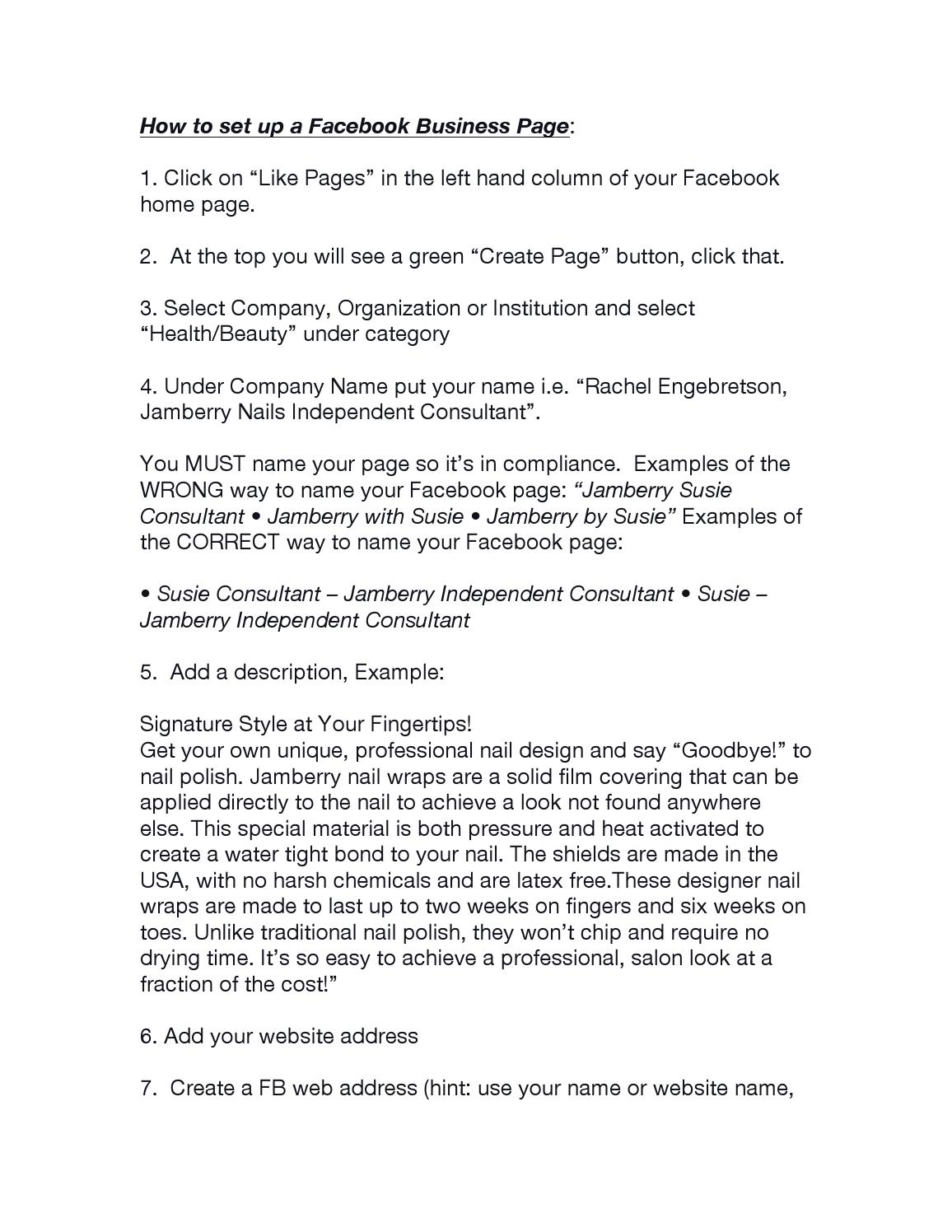 2 How to Set Up a Facebook Business Page by Tricia Comstock - issuu