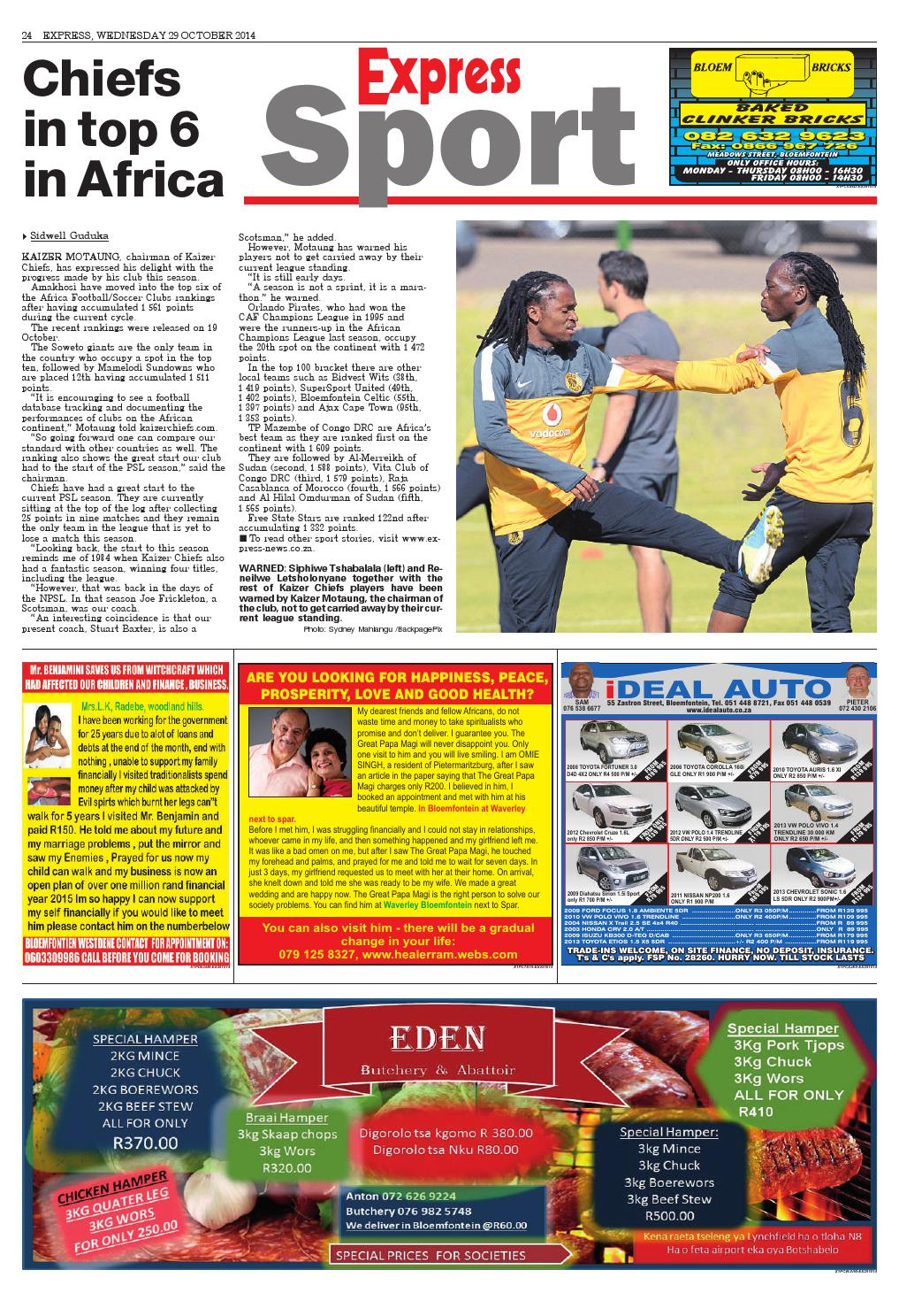 Expressex 20141029 by Northern Cape Express Express - Issuu