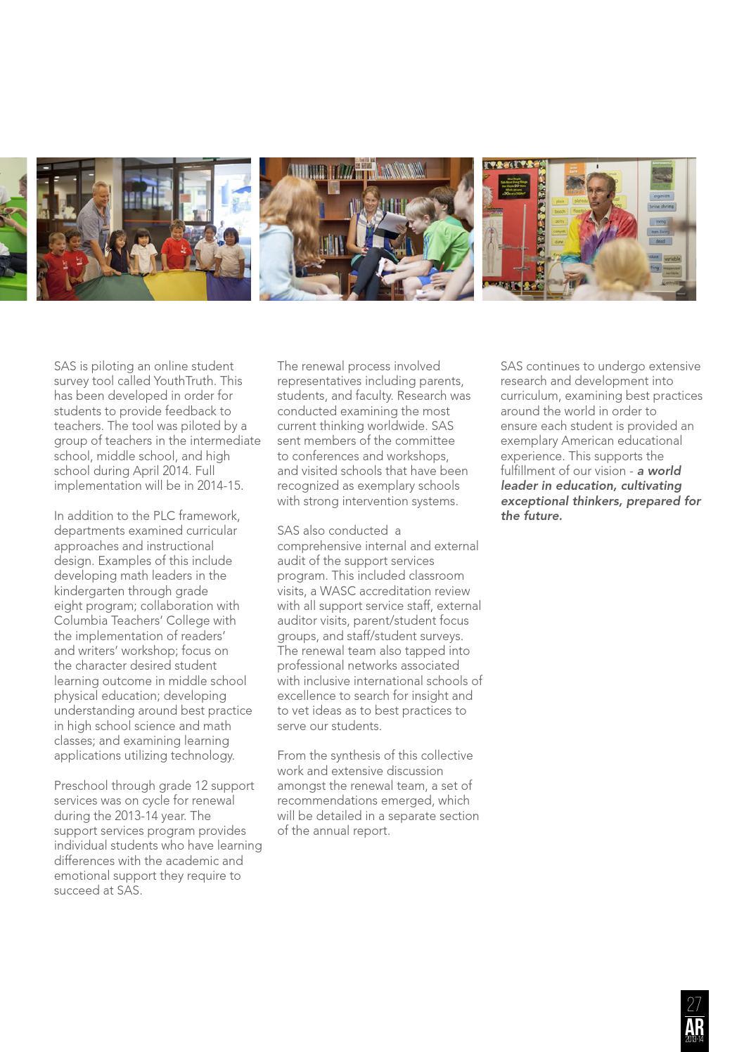 Singapore American School Annual Report 2013-14