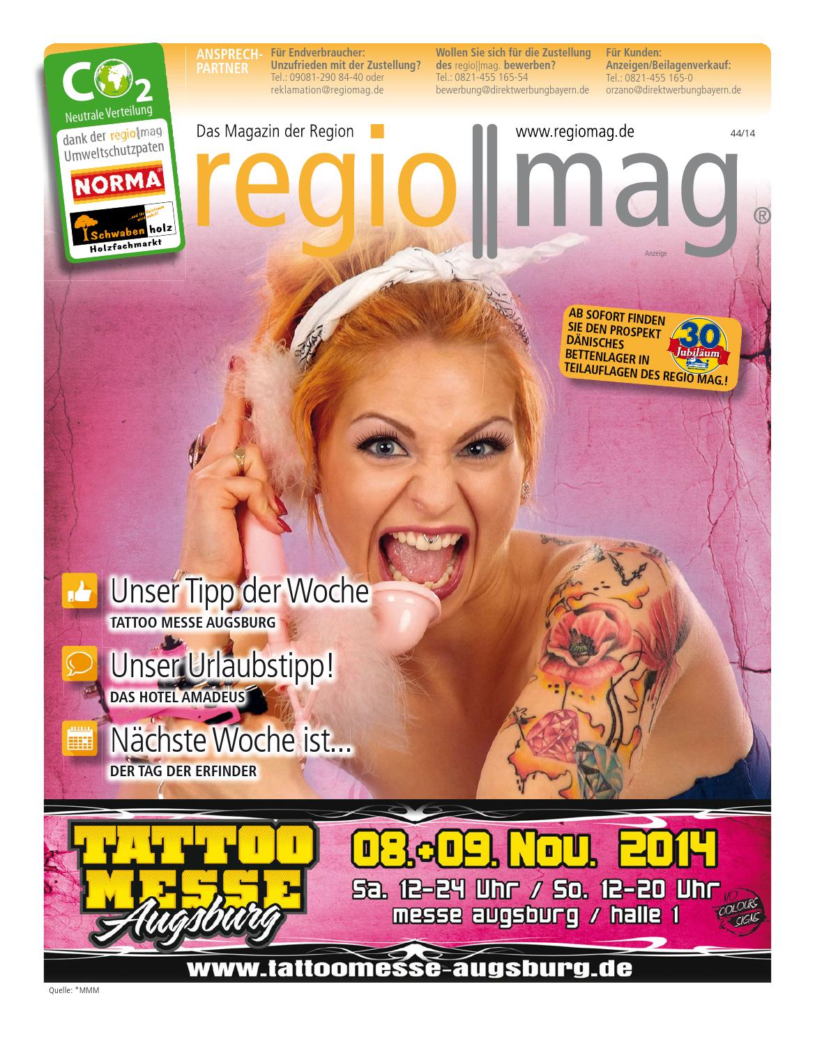 regio mag tattoo kw 44 14 by orzano issuu. Black Bedroom Furniture Sets. Home Design Ideas