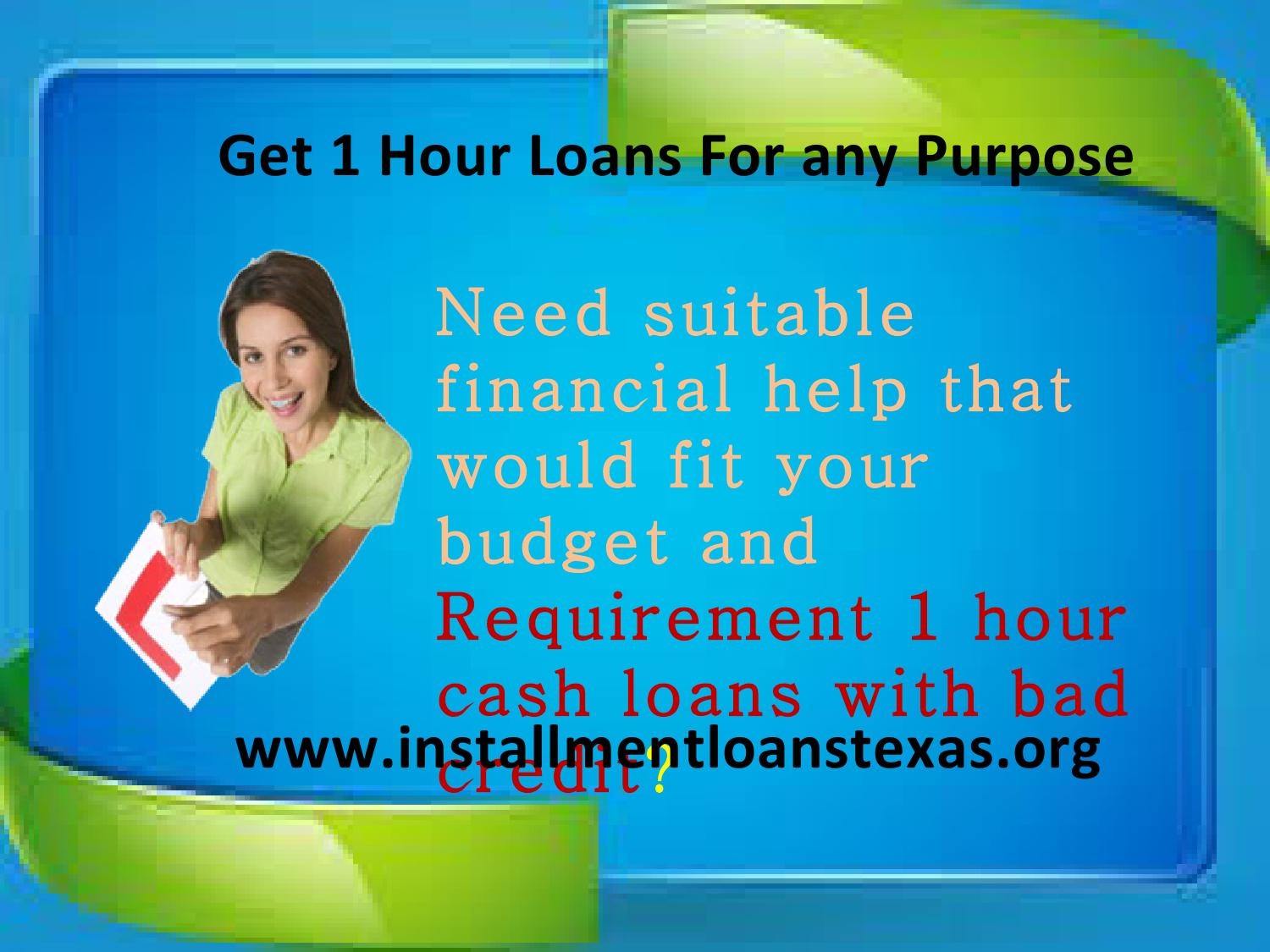 100 day loans for bad credit