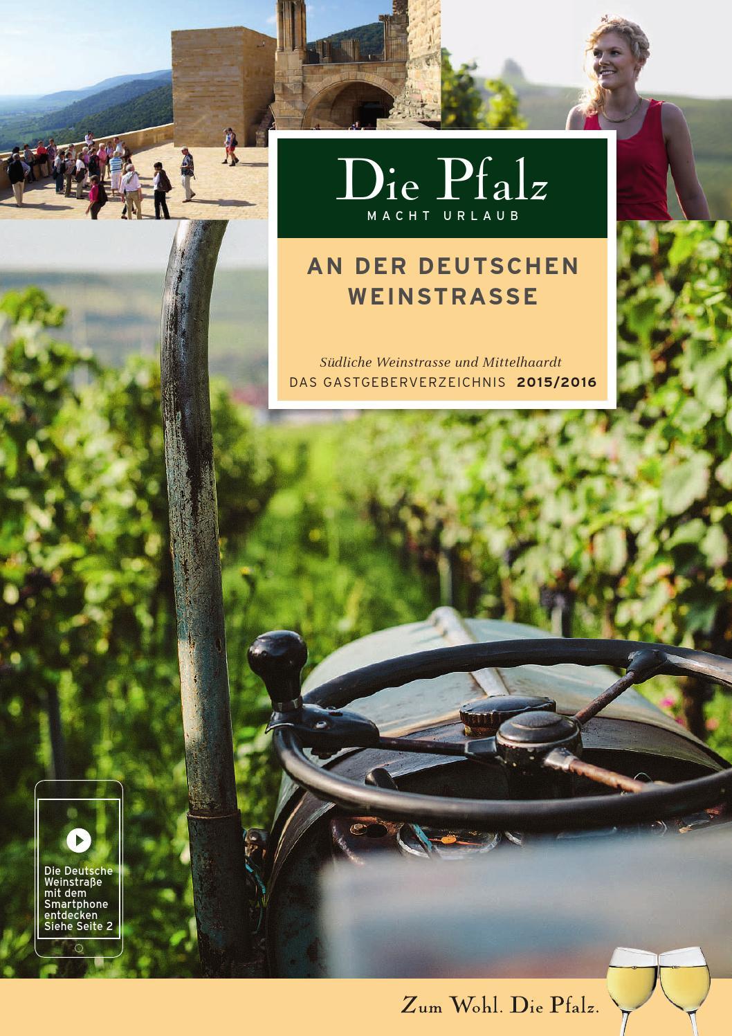 Die Pfalz macht Urlaub 2015/16 by Südliche Weinstrasse e.V. - issuu