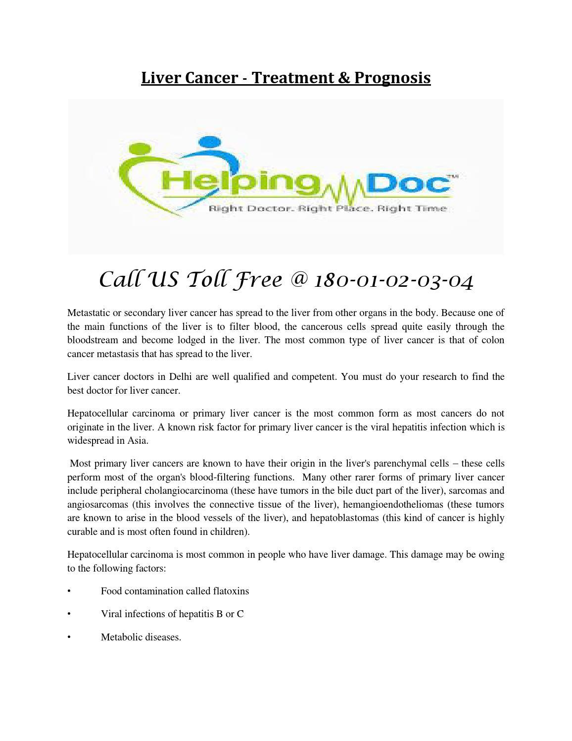Helpingdoc Liver Cancer Treatment Prognosis By Helpingdoc Issuu