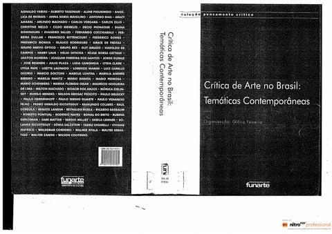 Gloria ferreira org critica de arte no brasil tematicas page 1 fandeluxe Choice Image