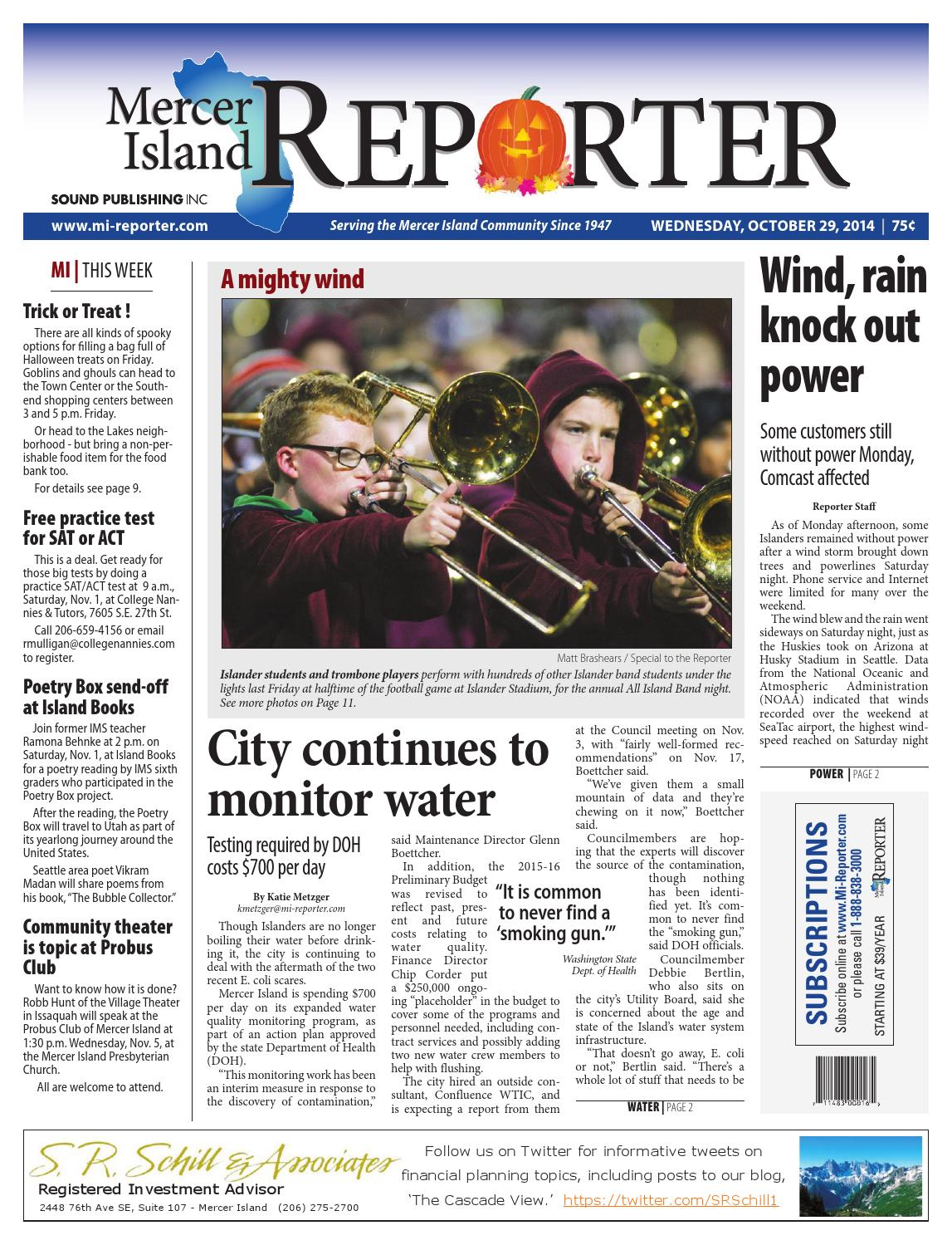 Mercer Island Reporter, October 29, 2014 by Sound Publishing