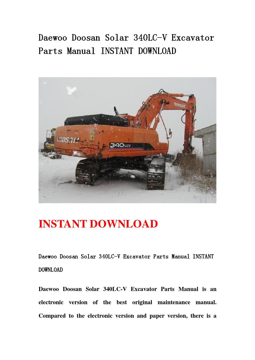 doosan d30s 5 parts manual