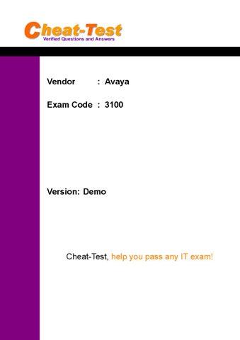 Current Avaya 3100 Certification Exam PDF by Nicole Johnson - issuu