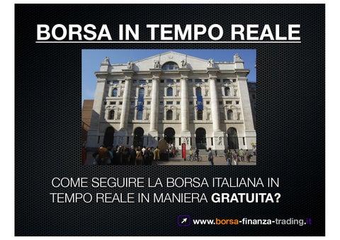 242a78ed45 Borsa Milano in tempo reale - GRATIS. Ecco come by Ale Vita - issuu