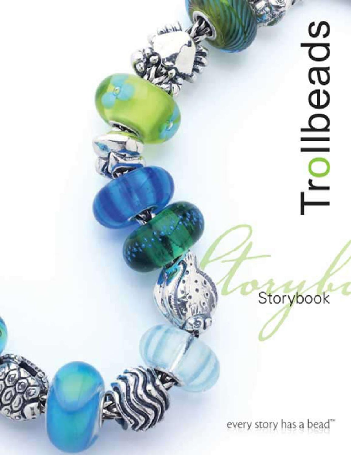 AUTHENTIC TROLLBEADS 61366 Turquoise Green Spring Bud  RETIRED