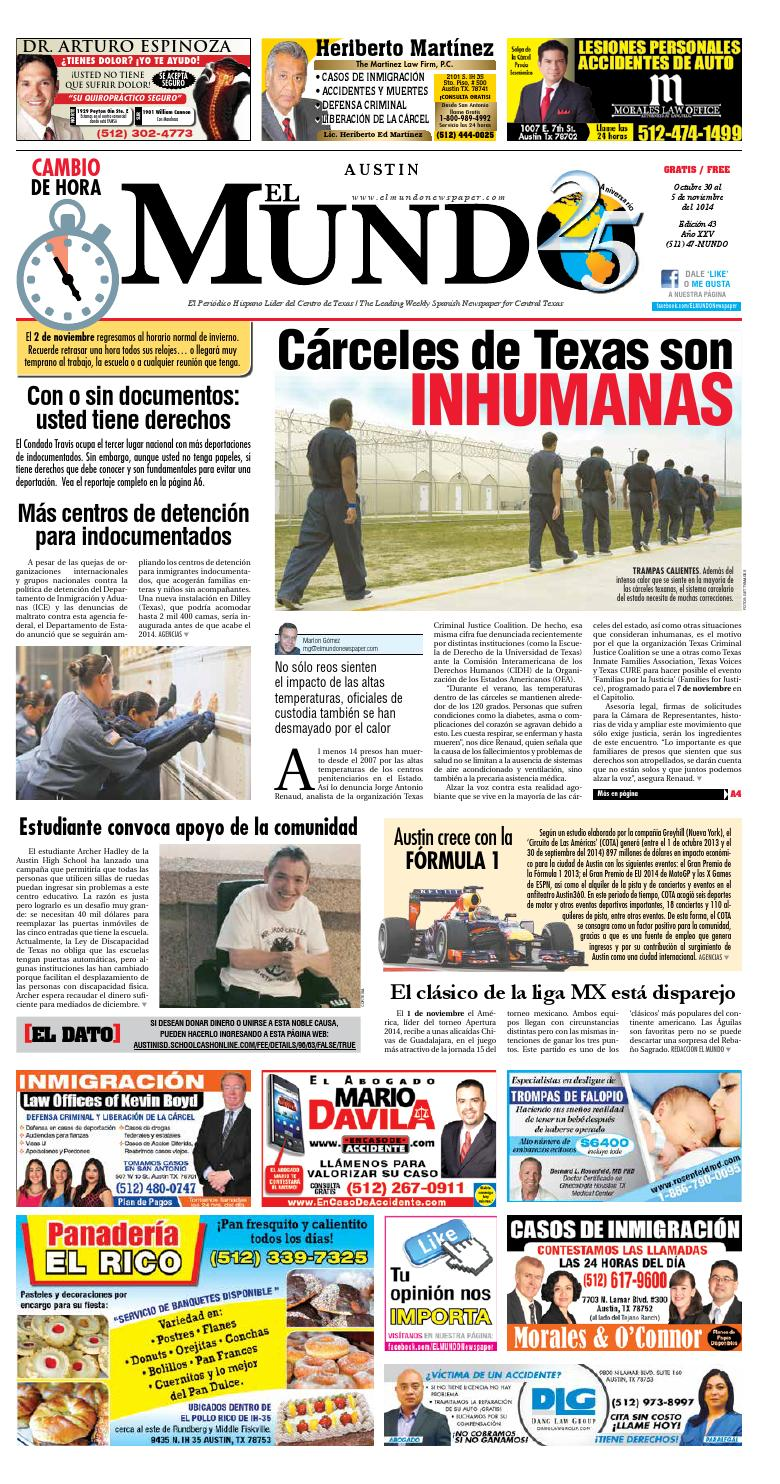 El Mundo Newspaper Austin 43 by El Mundo Newspaper - issuu