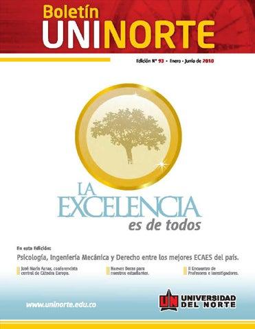 Boletín uninorte ed 93 by Universidad del Norte Colombia - issuu