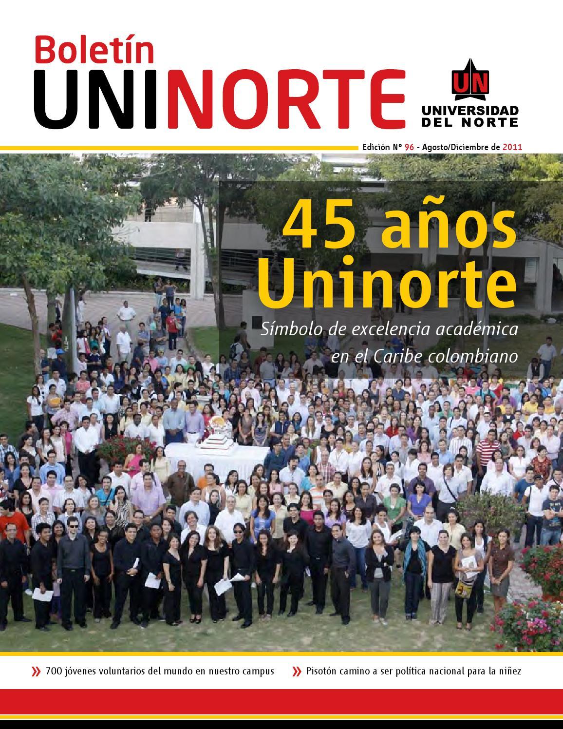 Bolet n uninorte ed 96 by universidad del norte colombia for Aberturas del norte pilar direccion