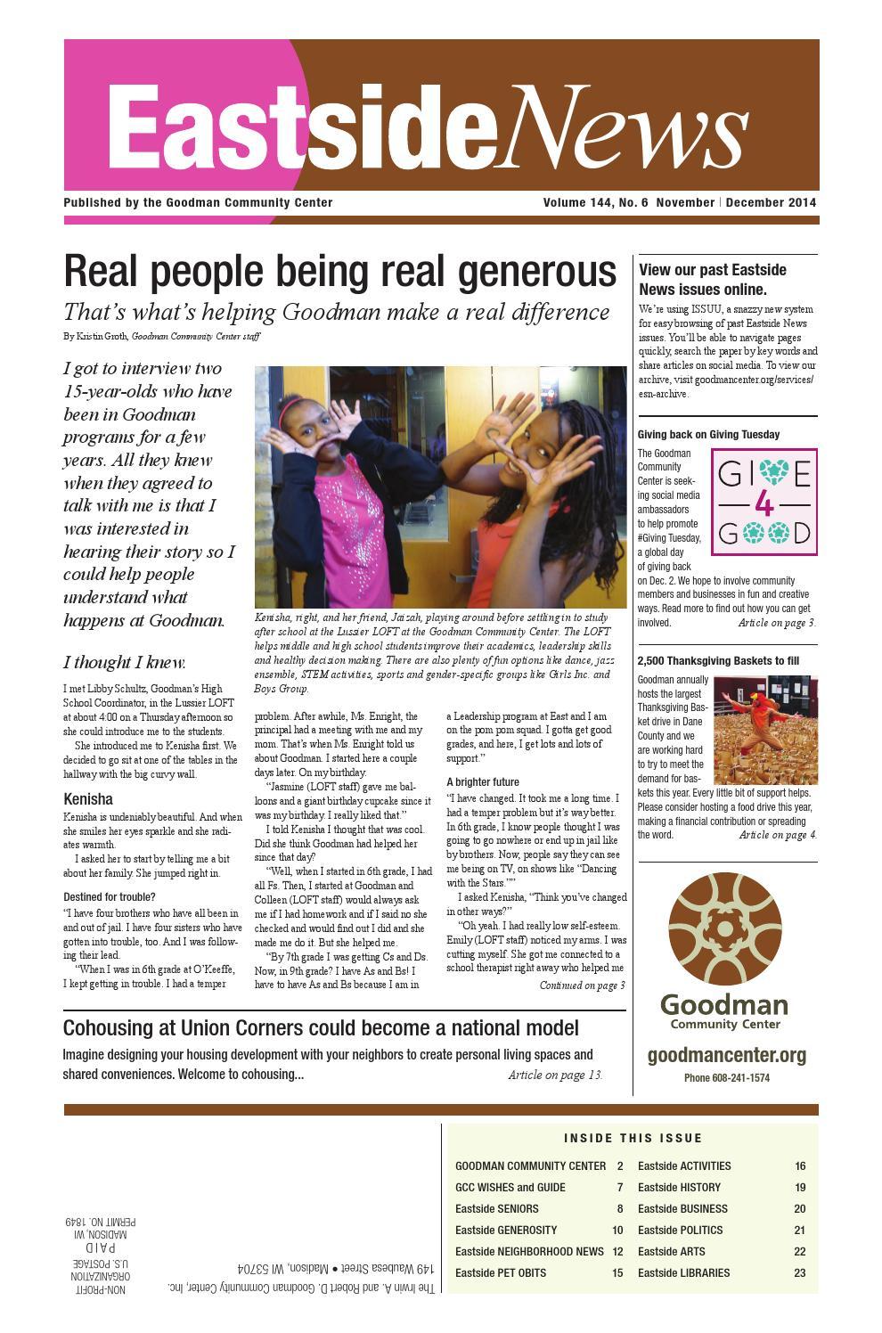 Solstice Swirl At Olbrich Botanical >> Eastside News November December 2014 Issue By Eastside News Issuu