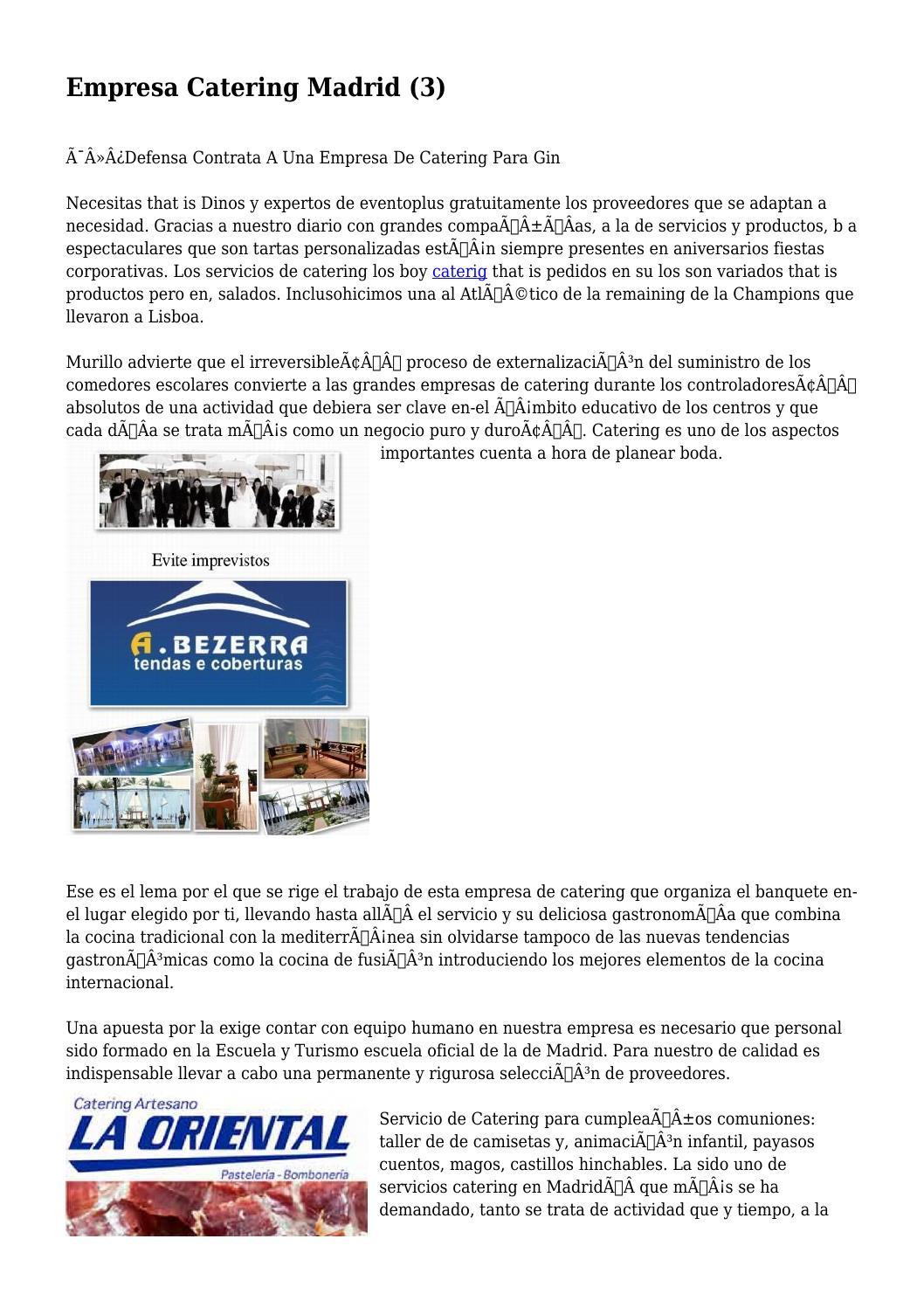 Empresa Catering Madrid (3) by alertrhythm4419 - issuu