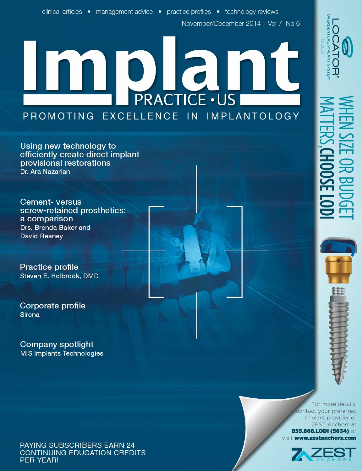 Implant Practice US November/December 2014 Issue - Vol7 6 by