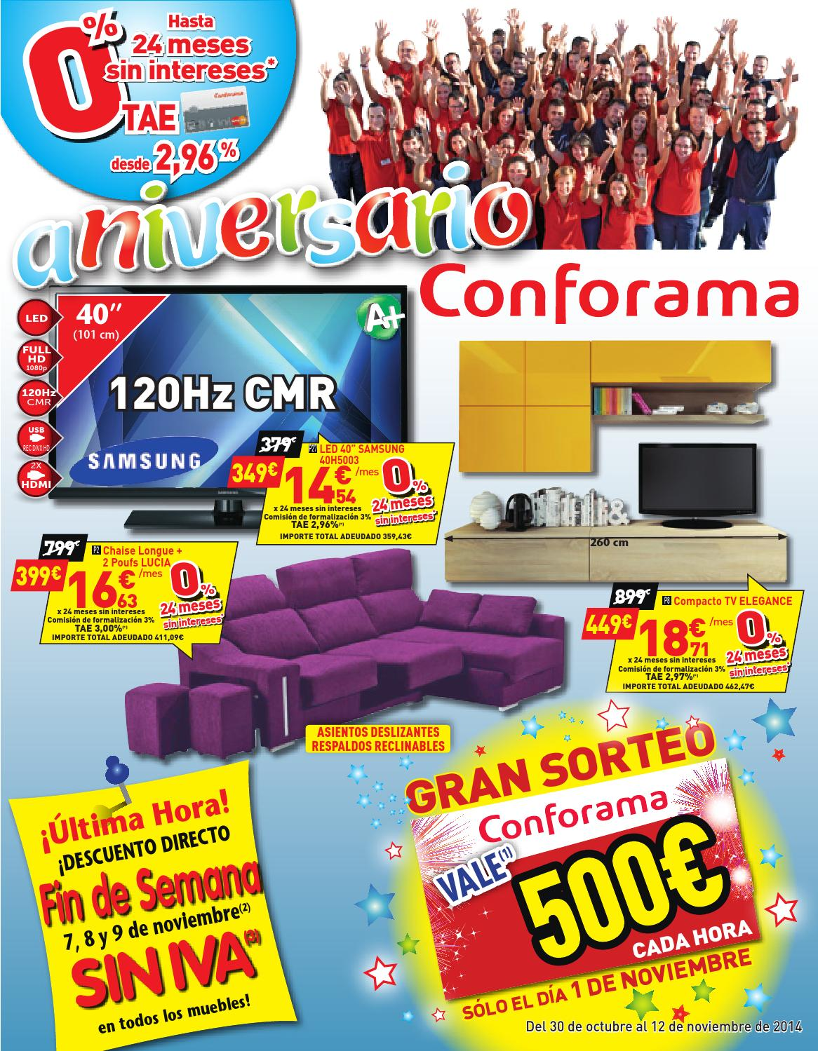 Conforama catalogo 30octubre 12noviembre2014 by - Conforama sevilla catalogo ...
