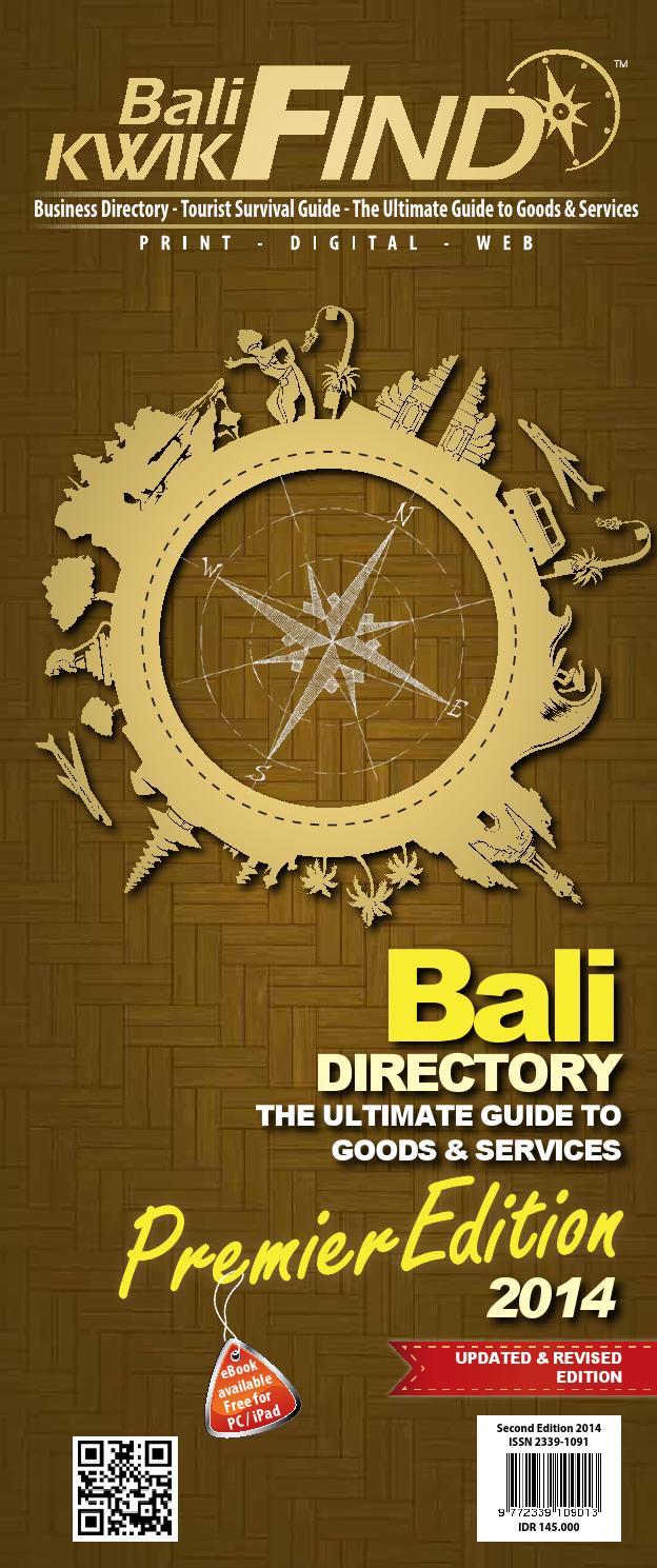 Bali Directory Kwikfind 2014 By Issuu Kukies Kelapa Agung Mirah