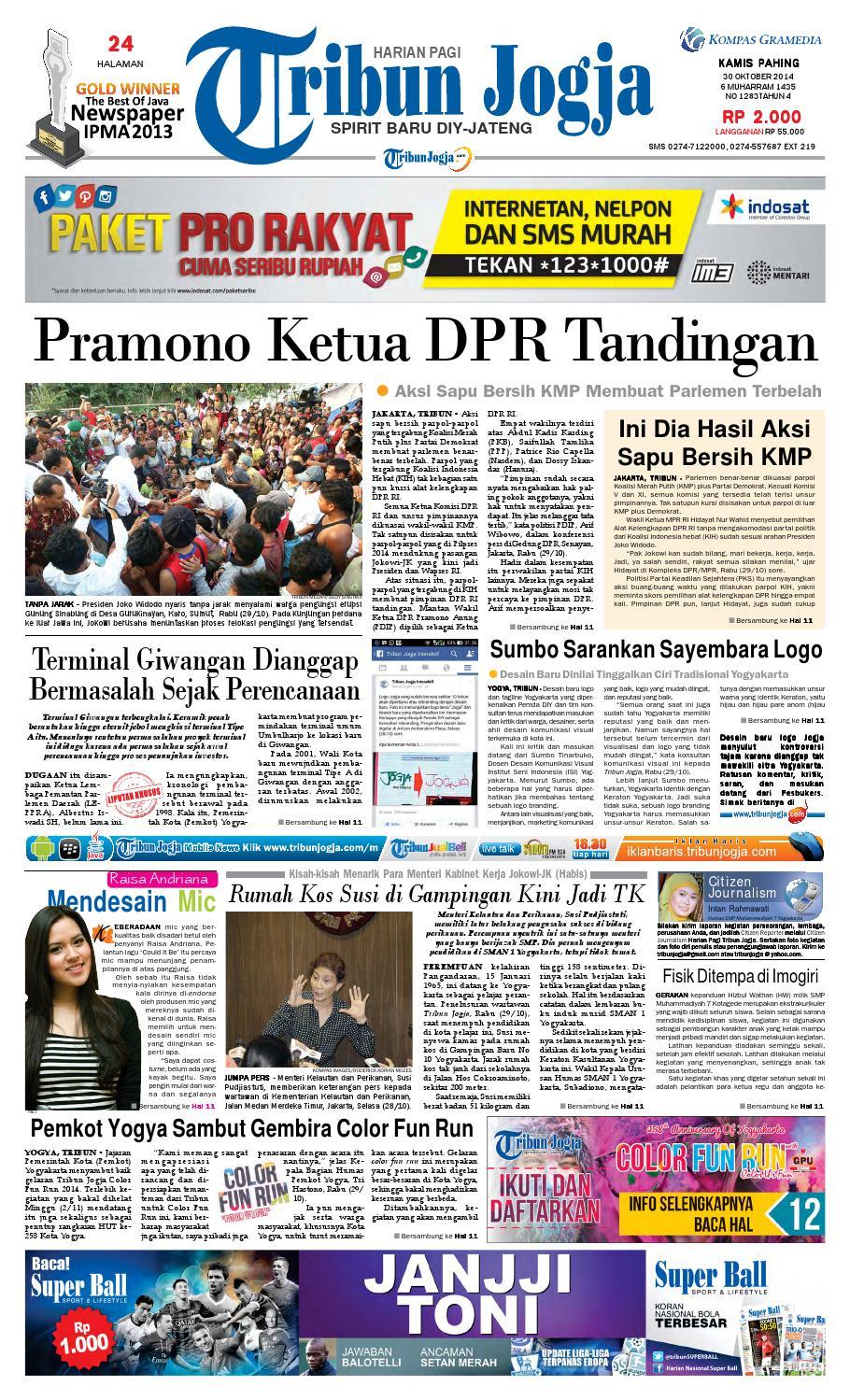 Tribunjogja 30 10 2014 By Tribun Jogja Issuu Produk Ukm Bumn Dat Edwina Bali Orange Slip On