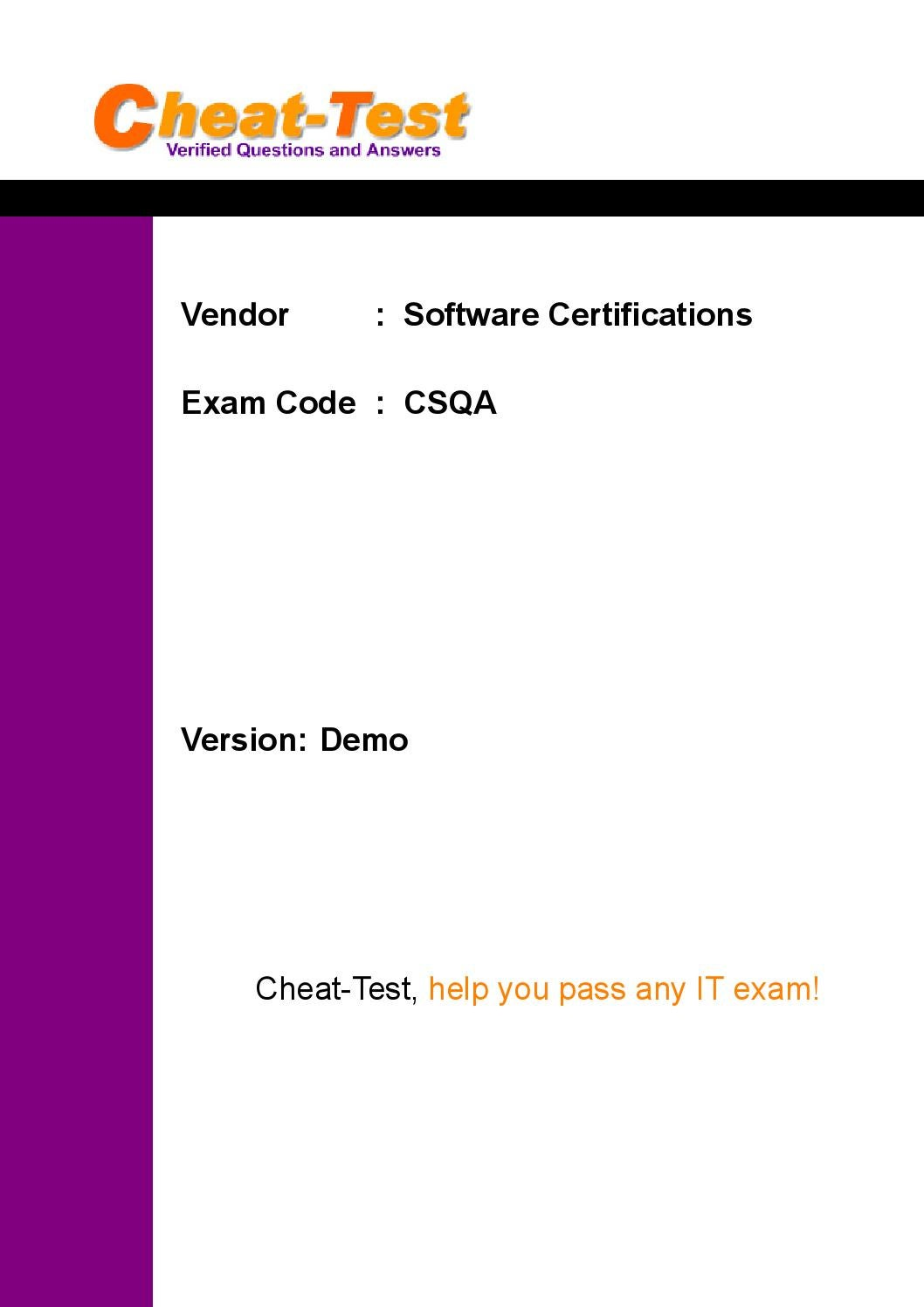 Up to date software certifications csqa certification exam pdf by up to date software certifications csqa certification exam pdf by sakuragel sales issuu 1betcityfo Choice Image