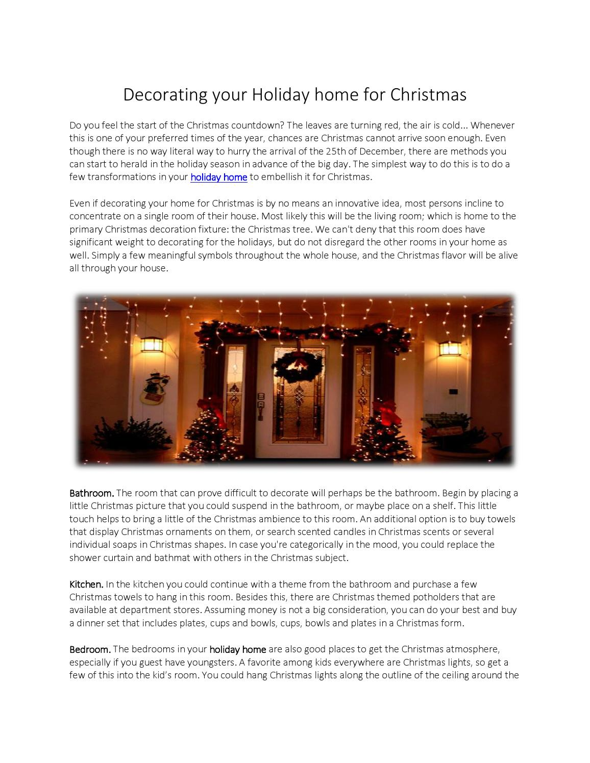 Decorating your holiday home for christmas by karma lewis - issuu