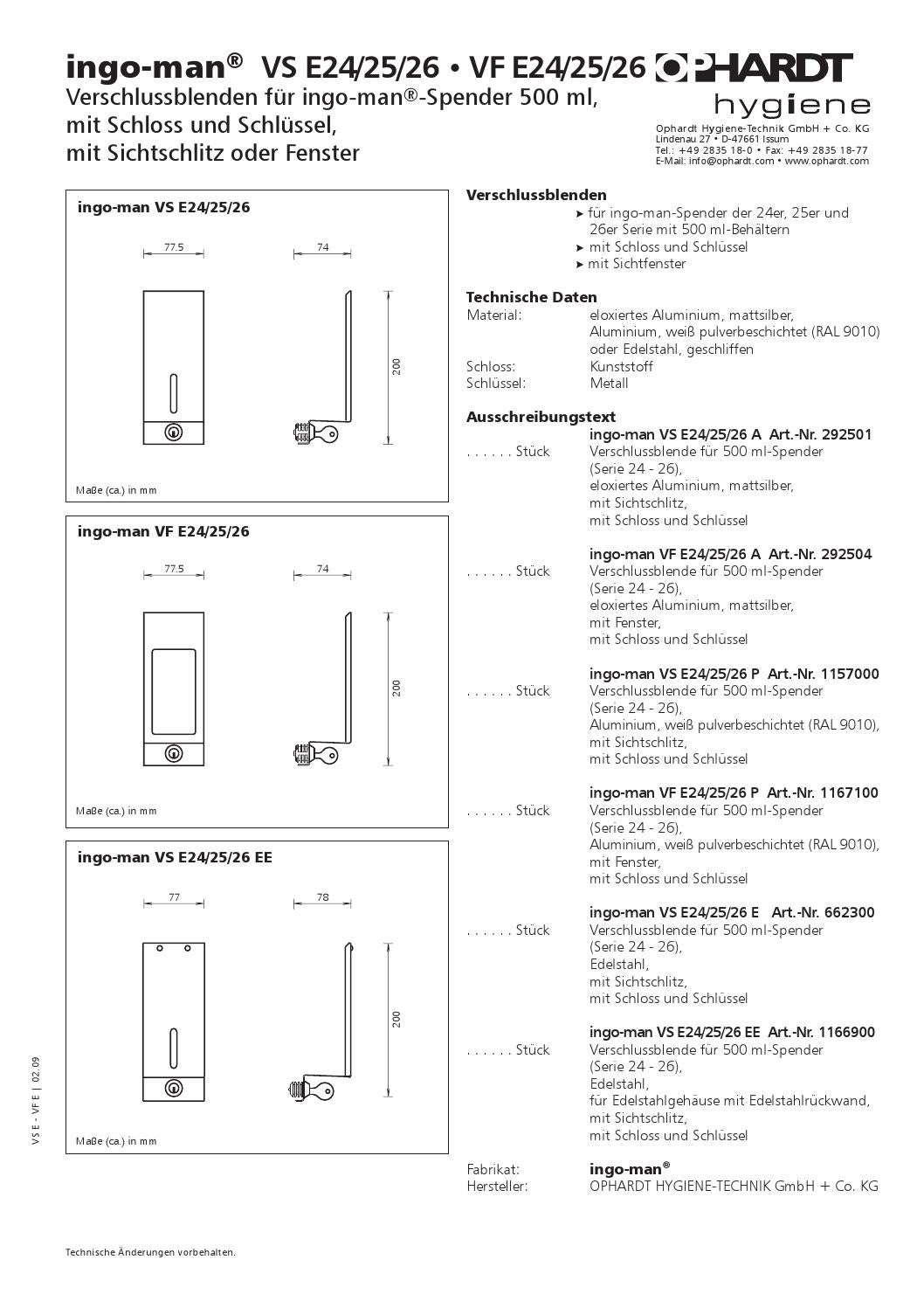 ingo man vs e 26 vf e 26 by heroshygiene issuu. Black Bedroom Furniture Sets. Home Design Ideas
