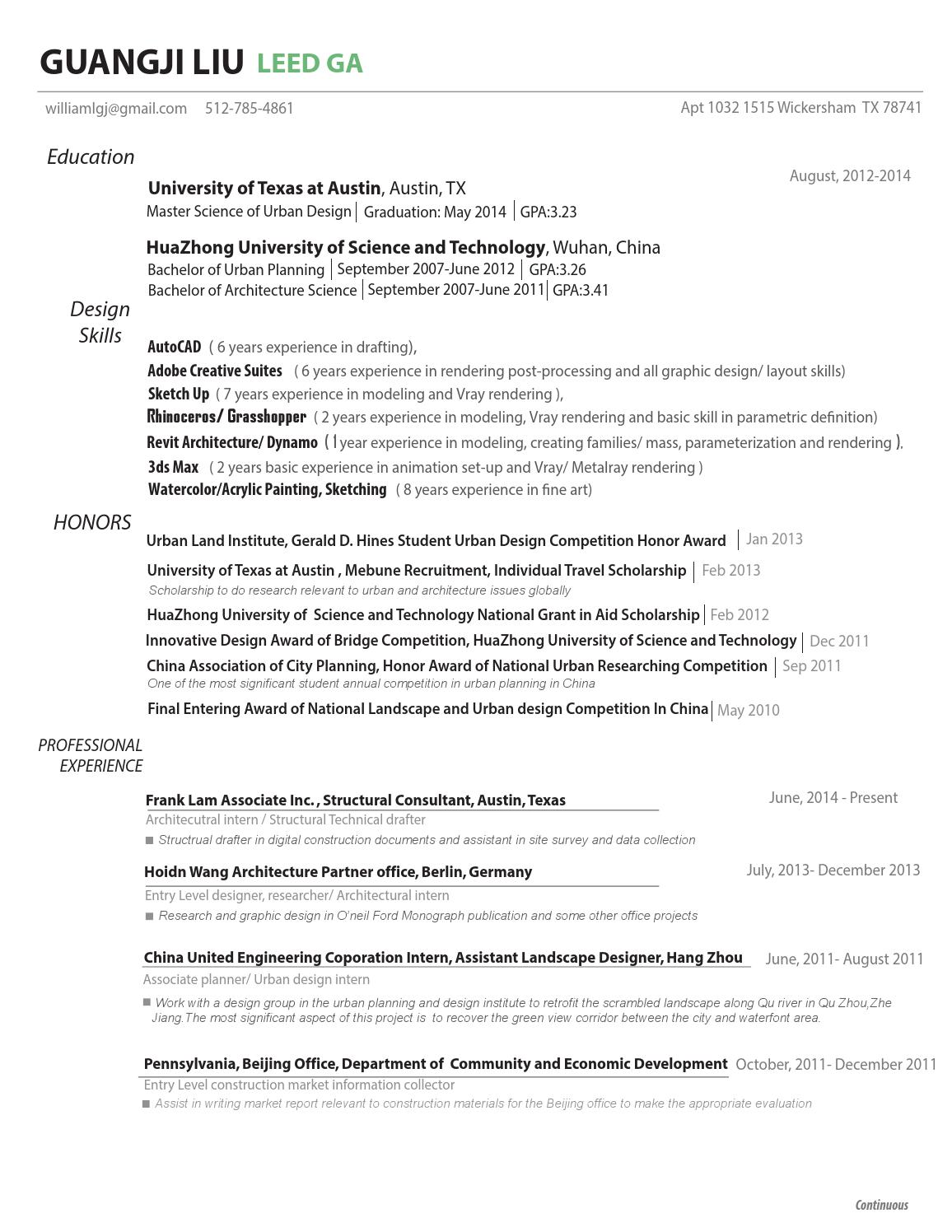 Resume cover letter by guangji liu - issuu