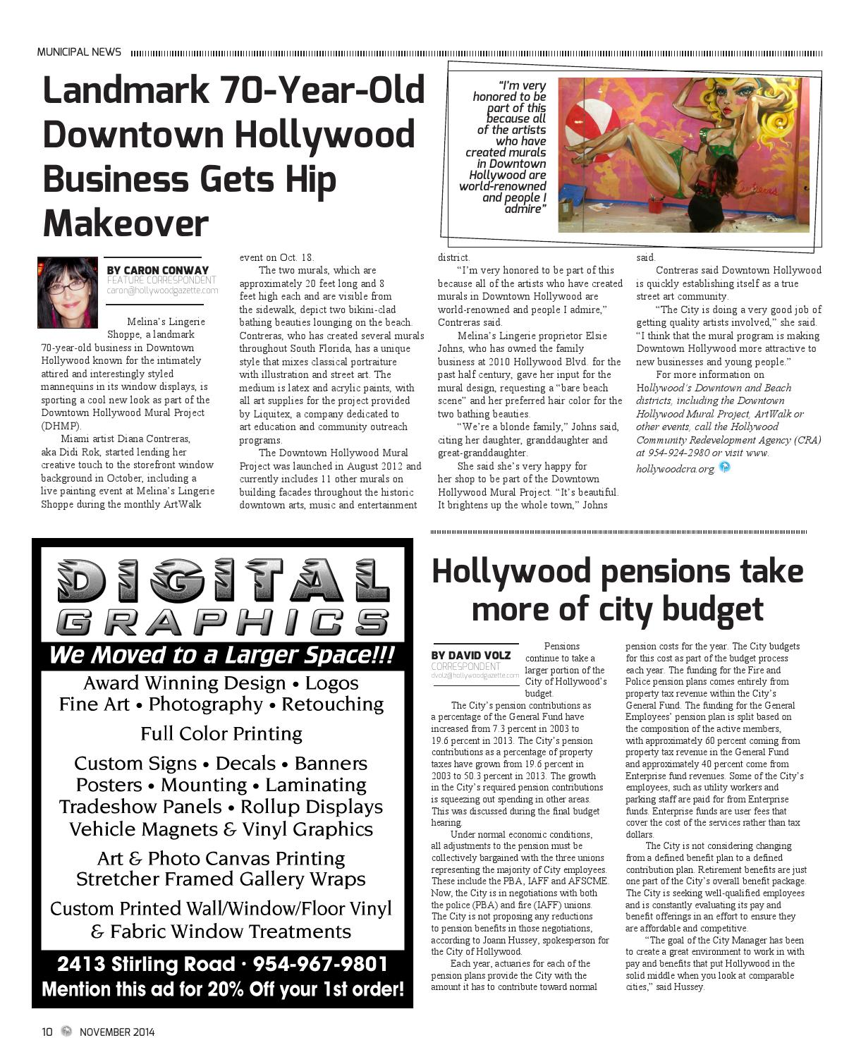 Hollywood gazette november 2014 by hollywood gazette issuu for Downtown hollywood mural project