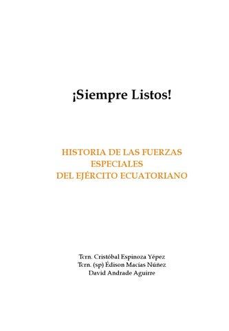 Historia de las Fuerzas Especiales del Ejército Ecuatoriano by ... 080929cddb1