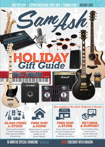 5aafd5f025a Holiday GiftGuide 2014 by Sam Ash Music Corp. - issuu