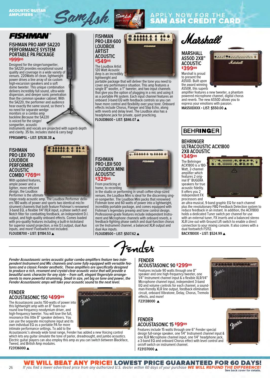 Holiday Giftguide 2014 By Sam Ash Music Corp Issuu Fender Acoustasonic Pro Amplifier Schematic Diagram