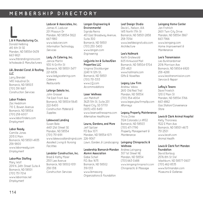 2015 Bismarck Mandan Community Guide Chamber Directory