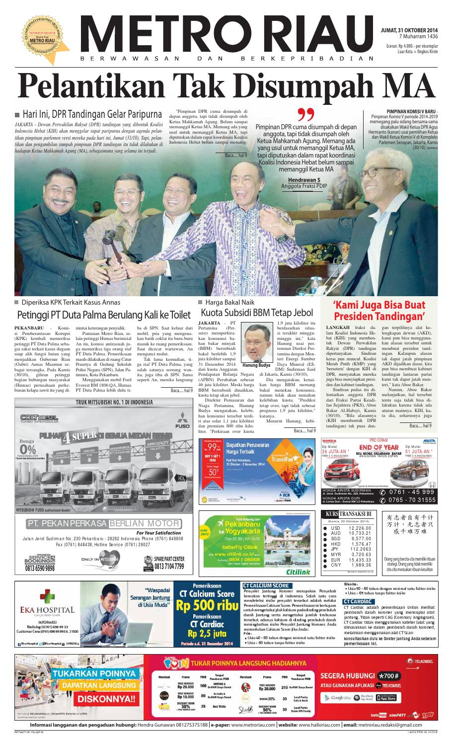 20 by Harian Pagi Metro Riau   issuu