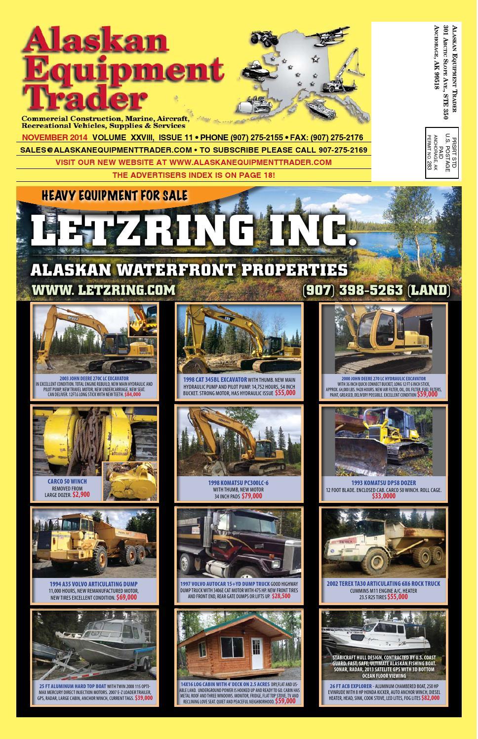 Alaskan Equipment Trader November 2014 by Morris Media