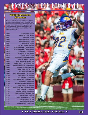 2014 Tennessee Tech Football Guide By Tennessee Tech Sports