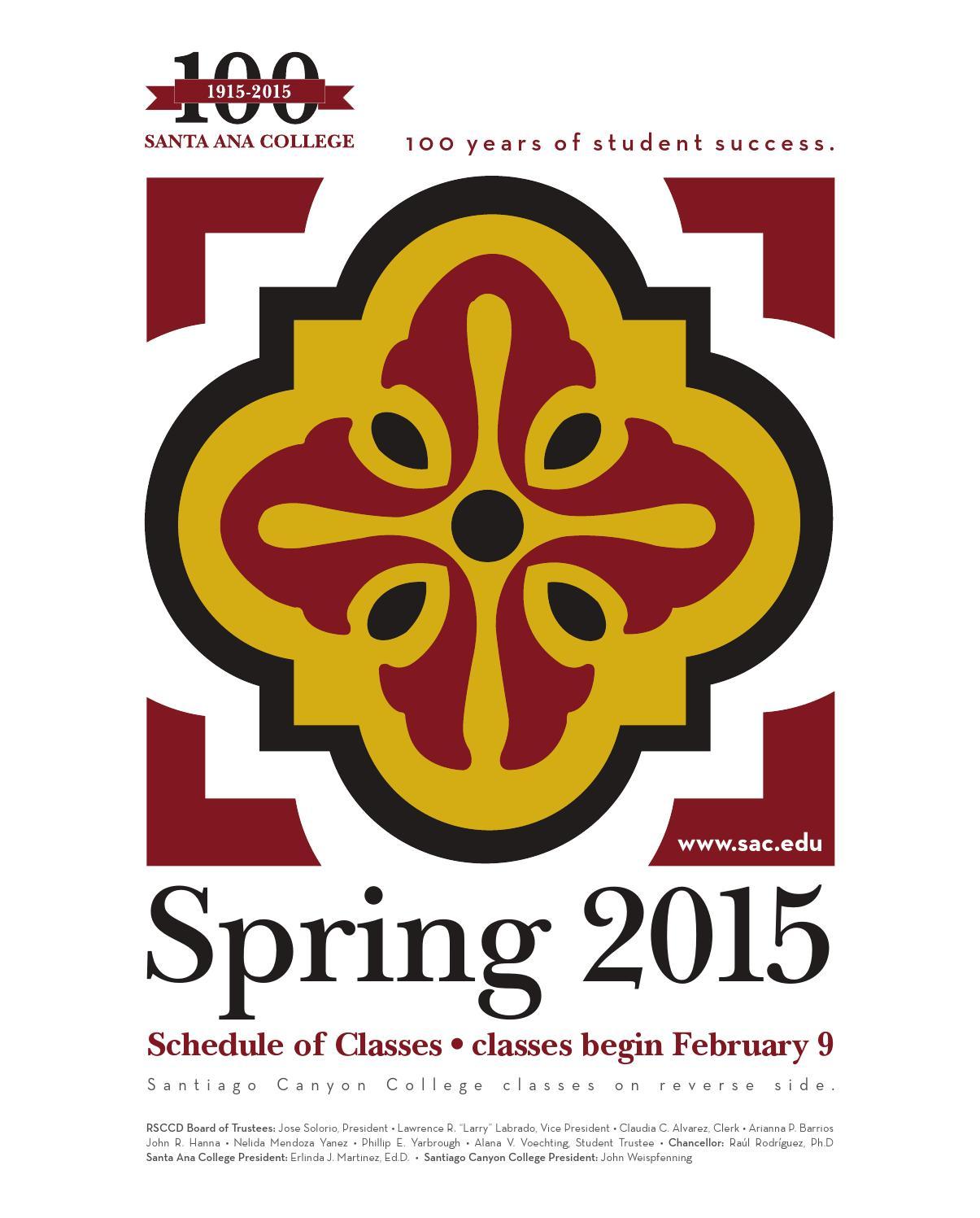 1e7c86a9f Santa Ana College 2015 Spring Schedule of Classes by Santa Ana College -  issuu