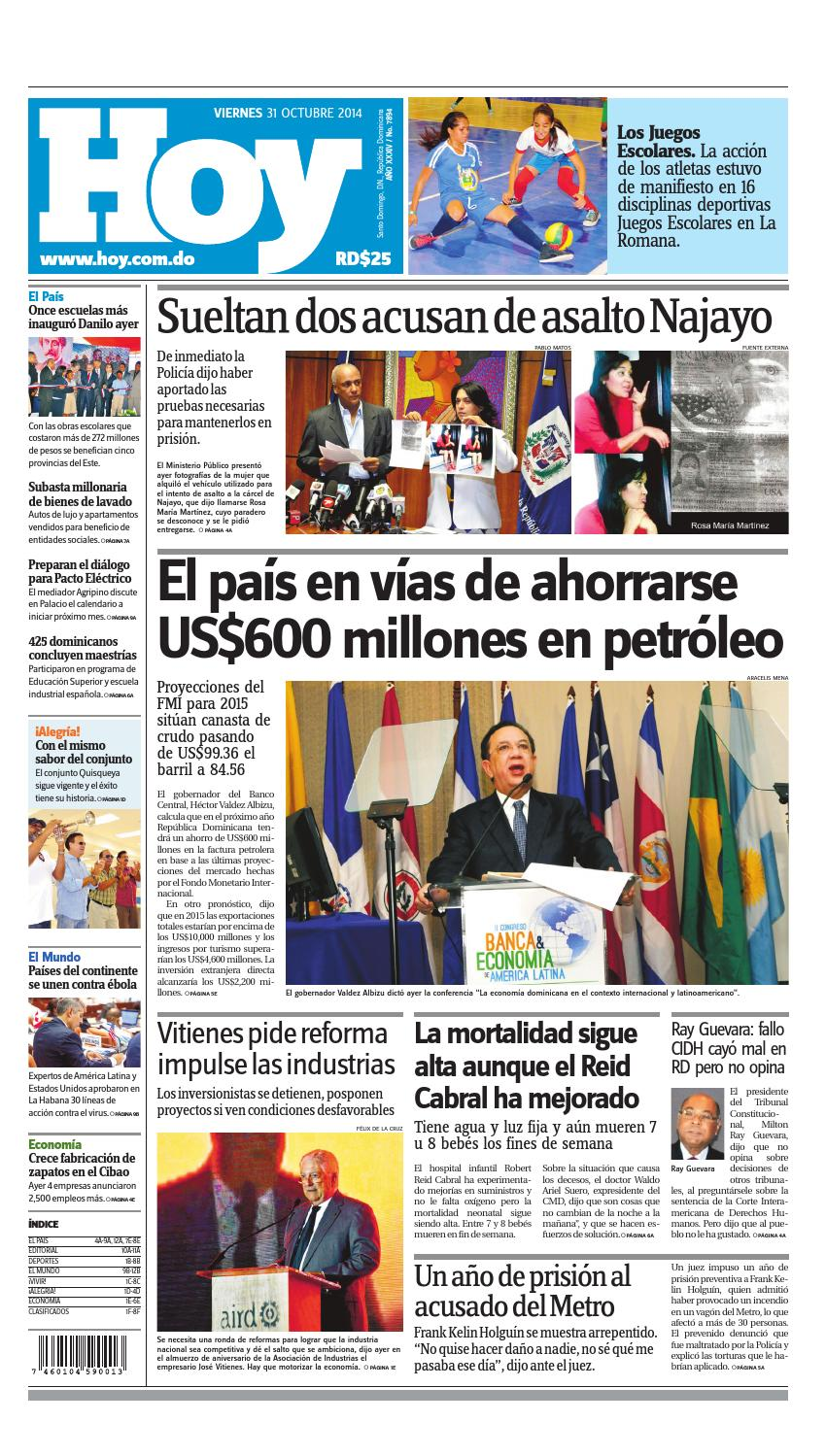 sale retailer 8c0ef 632bd Periodico hoy 31 de octubre by Periodico Hoy - issuu
