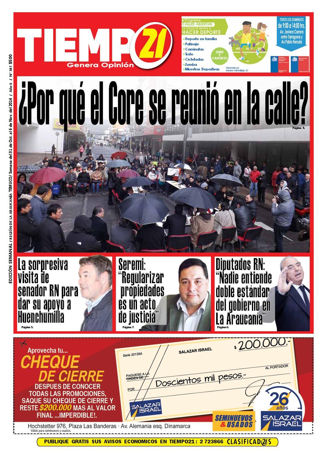 Edici N 307 Por Qu El Core Se Reuni En La Calle By Tiempo21  # Muebles Mehuin Rancagua