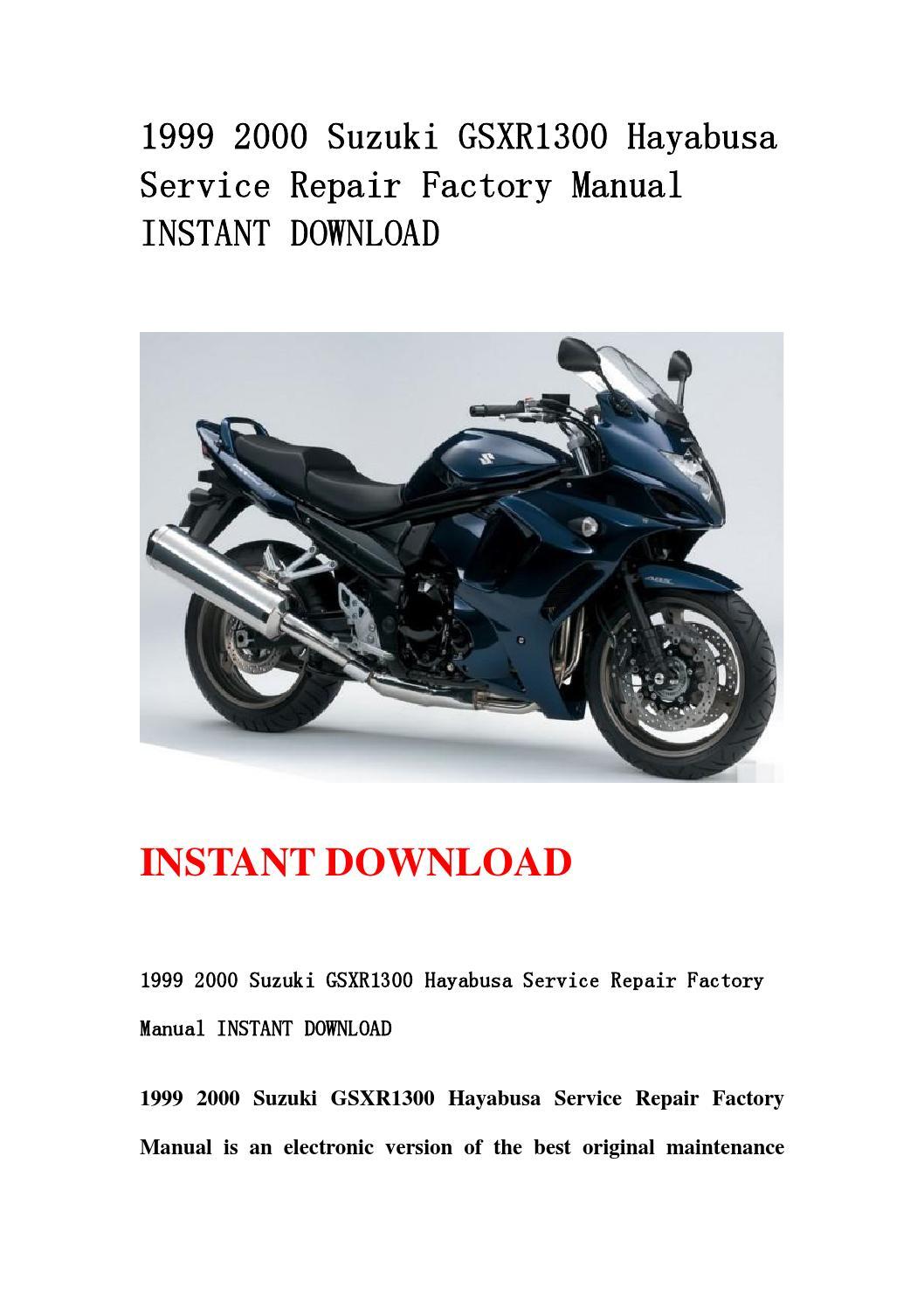 1999 2000 suzuki gsxr1300 hayabusa service repair factory manual instant  download by jfhnn mkjnd - issuu