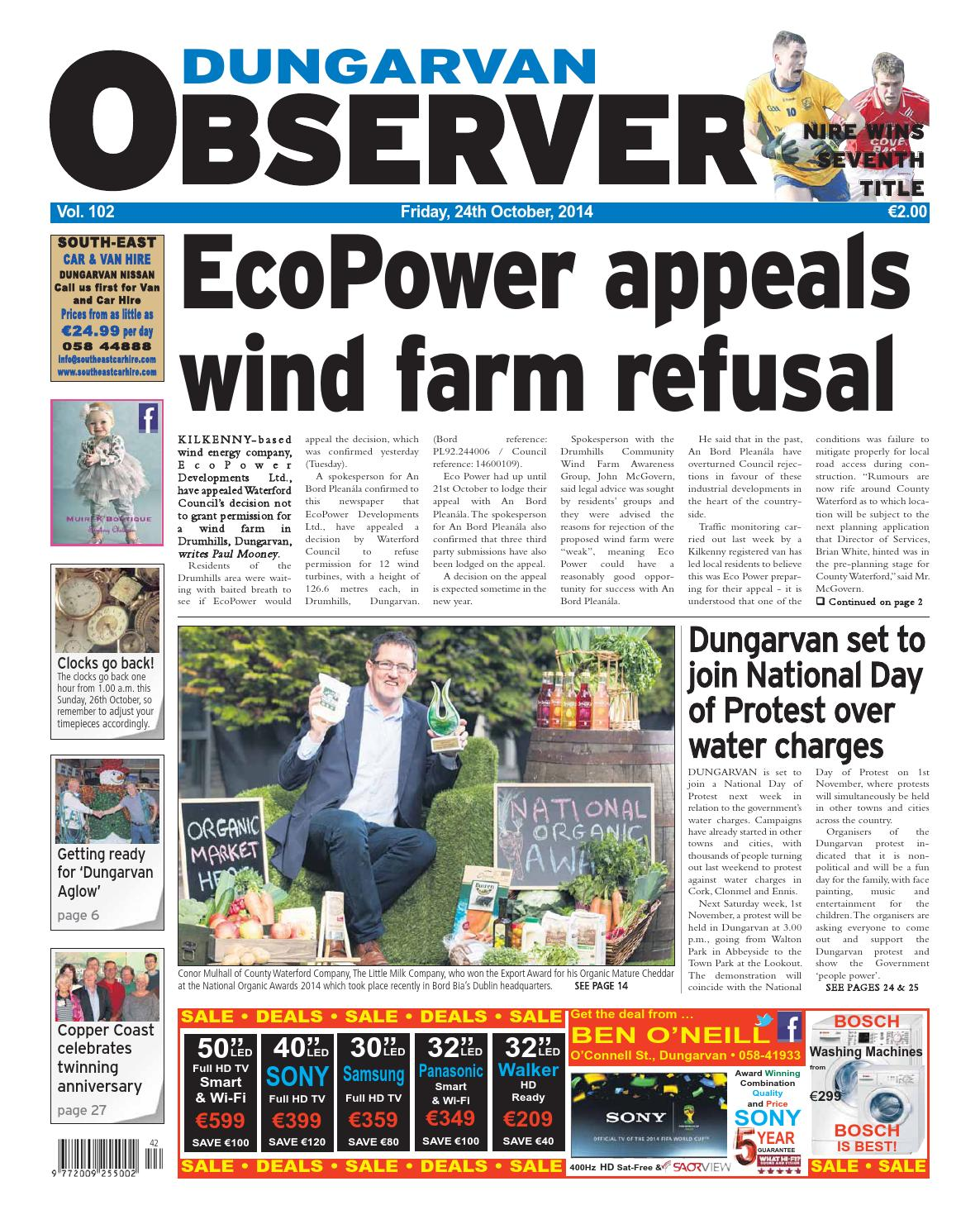 2f5fb45a283 Dungarvan observer 24 10 2014 edition by Dungarvan Observer - issuu