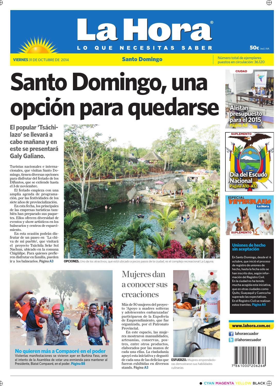 Santo Domingo 31 octubre 2014 by Diario La Hora Ecuador - issuu 18c87d76eb7