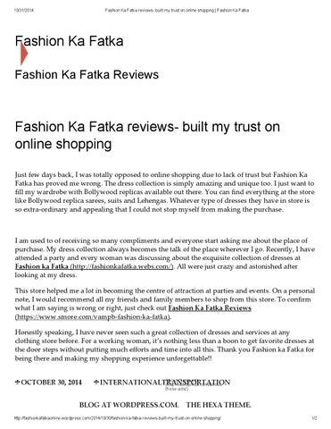 Fashion ka fatka dresses online