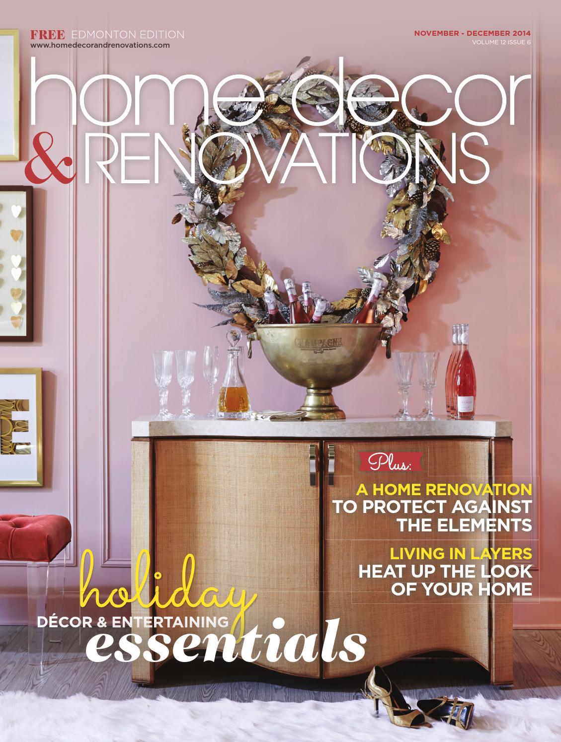 Edmonton home decor renovations nov dec 2014 by for Home decorating edmonton