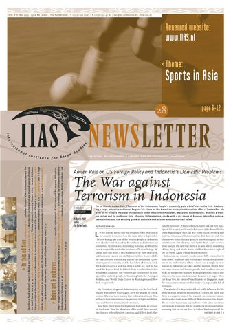 IIAS Newsletter 28 by International Institute for Asian Studies - issuu