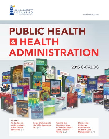 2015 public health health administration catalog jones page 1 fandeluxe Gallery