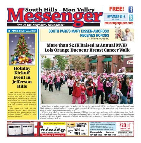 South hills mon valley messenger november 2014 by south hills mon page 1 fandeluxe Choice Image