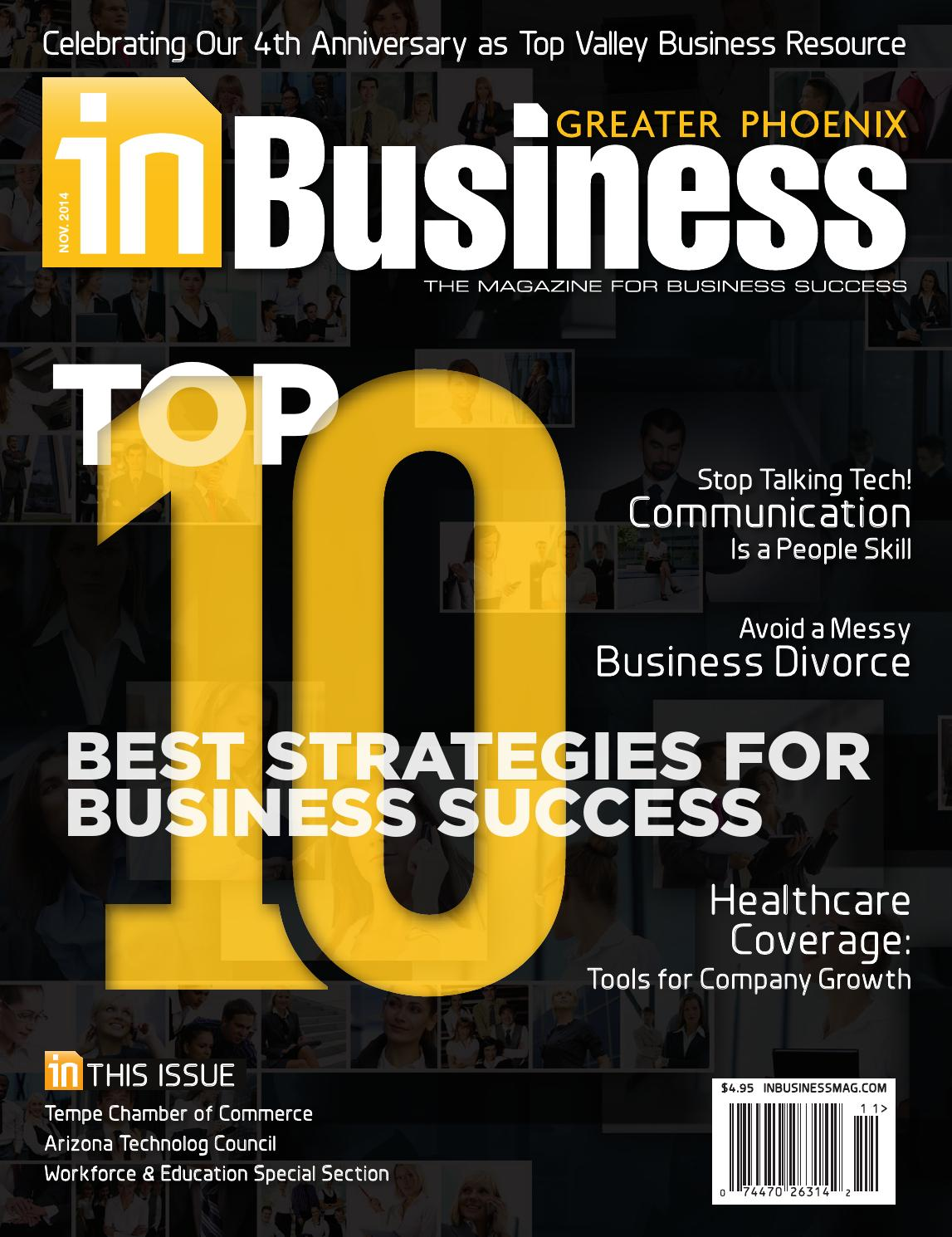 November 2014 issue of In Business Magazine