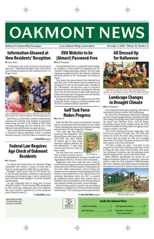 November 1st edition Oakmont News