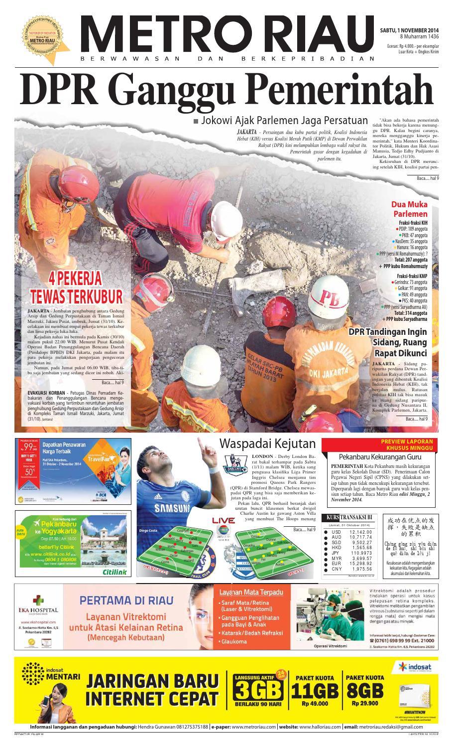 01112014 By Harian Pagi Metro Riau Issuu Sepatu Olahraga Lari Lokal  Fans Veloz N