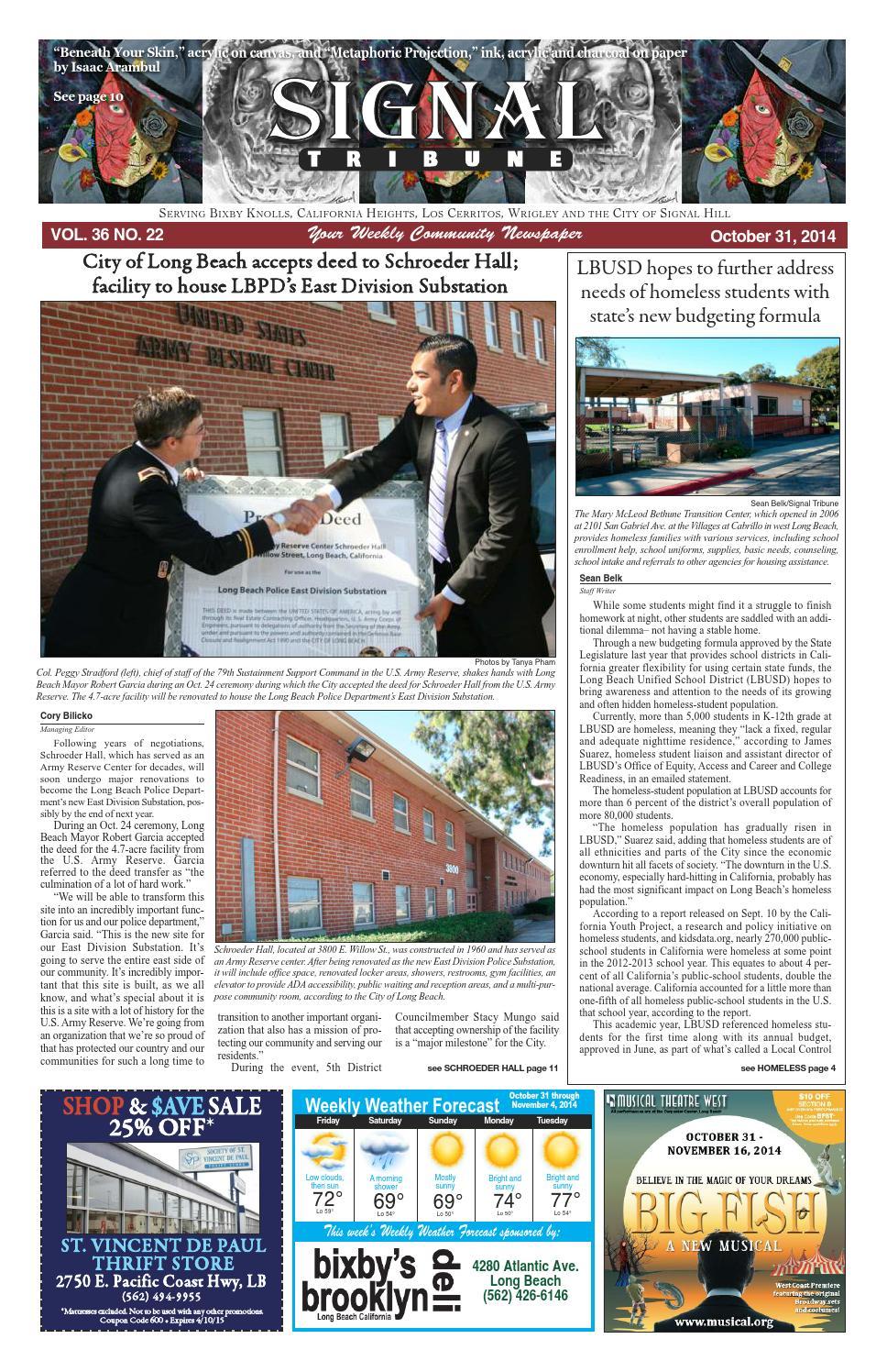 St3622 oct 31 layout 1 by Signal Tribune - issuu