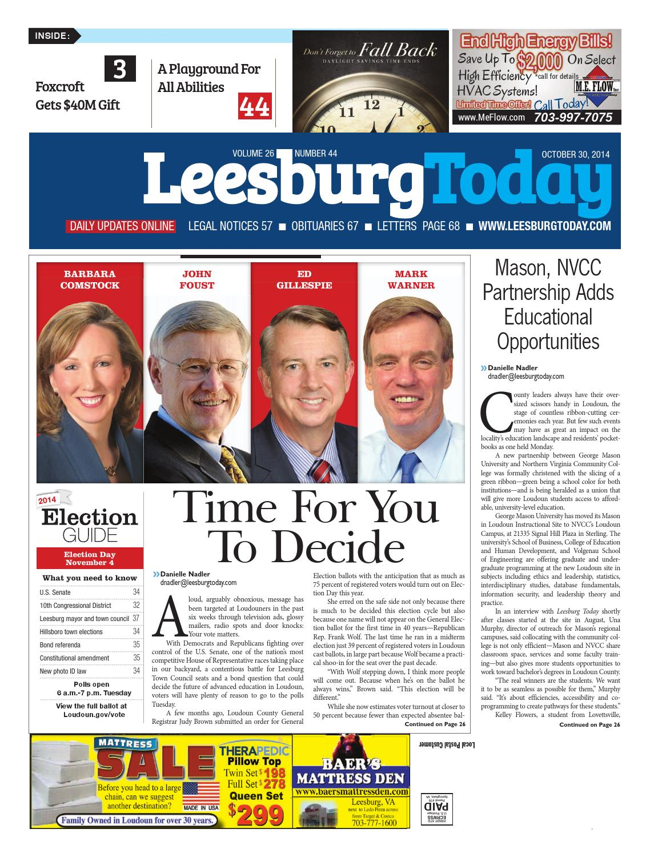 Leesburg Today, October 30, 2014 by Northern Virginia Media ...